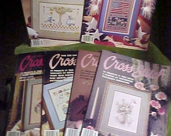 Vintage 1989 For The Love of Cross Stitch Magazines, (6)   #3254