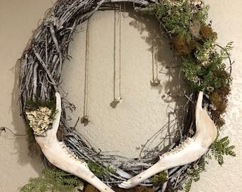 Deer jaw wreath | Vulture Culture