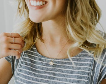 Mrs. Necklace - Anniversary Necklace - Rose Gold Necklace - Gold Initials Necklace - Gold Love Necklace - Girlfriend Boyfriend Necklace