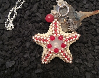 Beach Party Collection-Coral Starfish Pendant