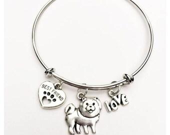 Chow Chow Best Friend Charm Bracelet