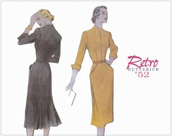 Reprinted 1950s Sewing Pattern - Butterick 6308 - Misses Dress - Size 12 14 16 Bust 34 36 38 - UNCUT - 1950s Fitted Dress, Re-issued Pattern