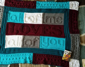 All of me crocheted blanket already made