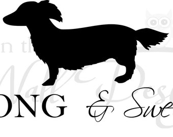 Long and Sweet dachshund Car Decal/Sticker
