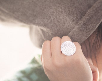Handmade 925 Sterling Silver Disc Ring