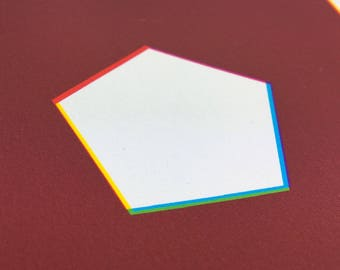 Negative Space Hexagon Geometric Print