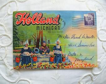 Holland ,Michigan Postcard Folder