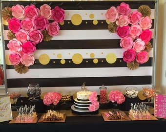 Paper Flower backdrop for weddings and special events!