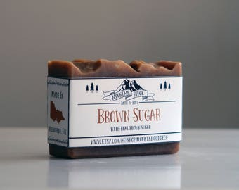 Brown Sugar Soap - Handmade Soap, Cold Process Soap, Sweet Almond Oil, Palm Free Soap