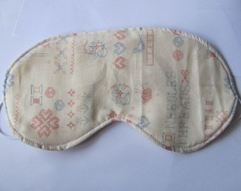 Embroidery counted points sleeping mask