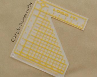 Logo Grid It Heat Transfer Vinyl (HTV) Alignment Tool - HTV, Heat Transfer Vinyl, Monograms, Chest Designs, Logos
