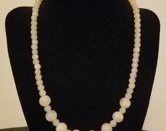 Beaded Necklace - Beige