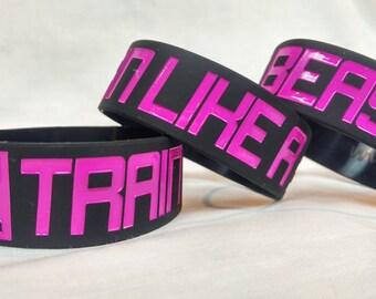 """TRAIN LIKE A Beast 1"""" Fitness Silicone Wristband"""