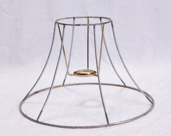 Wire lampshade frame etsy lamp shade wire frame lamp harp diy kit 6 sided vintage hexagon greentooth Gallery