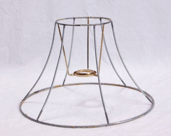 Lamp shade wire frame lamp harp diy kit 6 sided vintage like this item keyboard keysfo Images