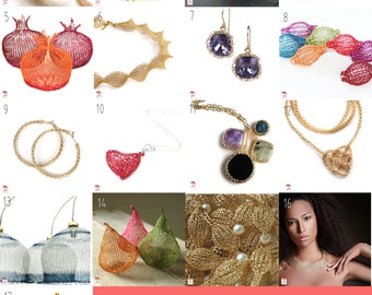 The Complete Wire crochet patterns package - jewelry making tutorials and video instructions - learn to wire crochet