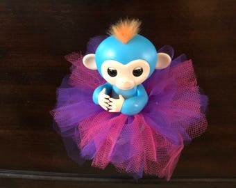 Fingerlings Finger Monkey pink and purple Valentine's Day Tutu Accessory