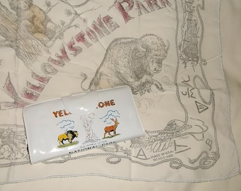 Vintage YELLOWSTONE PARK Scarf & Wallet • Yellowstone National Park