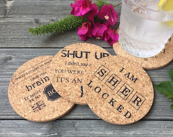 Sherlock Holmes Cork Coaster Set of 4