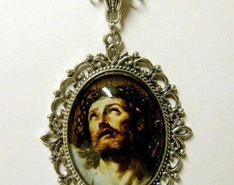 Portrait of Christ necklace - AP09-036