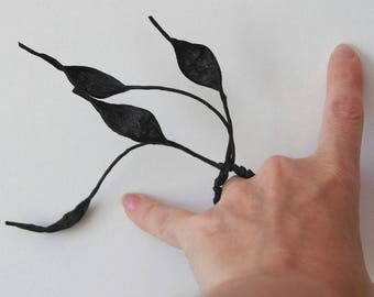 Secretary black paper ring