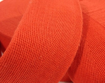 Cotton Twill Tape 2 inches wide 3 yards long Red