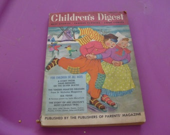 CHILDRENS DIGEST february 1954 vintage book stories games and more used