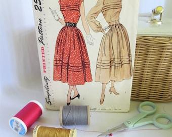 Vintage Dress Pattern, Vintage Pattern, Simplicity 3075, Vintage, Pattern, Sleeveless, Long Sleeves, 50s, 50s Dress Pattern, 50s Pattern