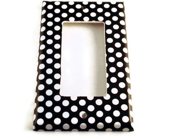 Rocker Switch Plate  Wall Decor Switchplate Light Switch Cover  in  Polka Dots Rock (207R)
