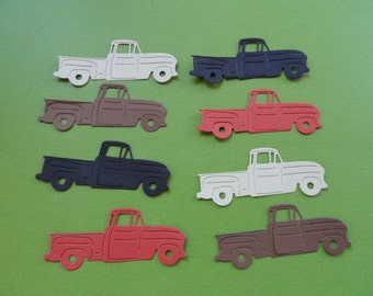 Truck Die Cuts Set of 10   Choose your Colors! For card making, scrapbooking or DIY projects