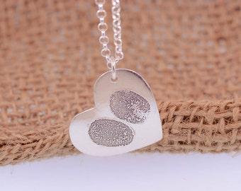 Heart FingerPrint Pendant
