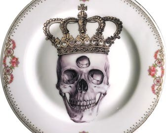 Third Eye King - Vintage Porcelain Plate - #0584
