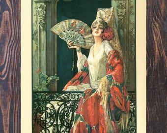 ChLorilleux Vintage Art, Vintage Fashion Ad, Vintage Beauty Ad, Woman Art , Vintage Ad,  Vintage Art Giclee Art Print, Fine Art Reproduction