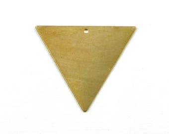 6 TRIANGLE geometric jewelry pendant. 30mm x 35mm (S12). Please read description