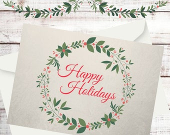 Christmas Holiday Greeting Card - Happy Holidays