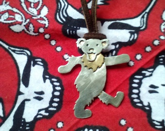 Handmade Grateful Dead Bear Pendant