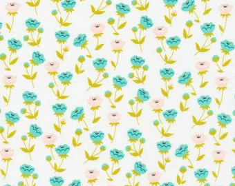 Vignette - Buttercup Turquoise by Aneela Hoey from Cloud9 Fabrics