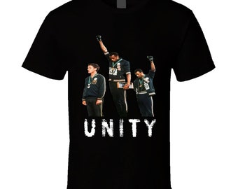Cool 1968 Mexico Olympics Black Power Salute Tommie Smith Unity T Shirt