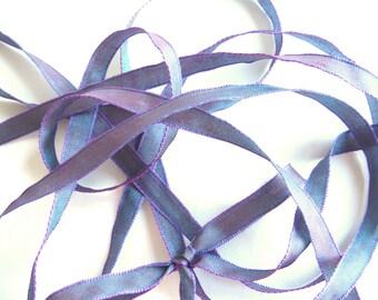 """THE SHOELACES SHOP-Blue, Purple, Iridescent Shoe Laces, Ribbon Shoelaces, Blue Shoelaces, Purple Shoelaces, Shoestrings, """"Violets are Blue"""""""