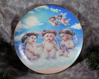"Dreamsicles Collector Plate ""The Flying Lesson"" Kristin USA Vintage Hamilton 6-1/2"""