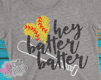 Softball SVG, Softball bats svg design, softball mom SVG, Hey batter batter svg, softball sister svg, softball cut file, SoCuteCuttables