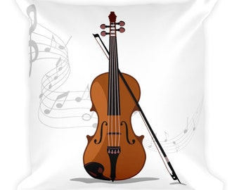 Music pillow, Decorative pillow, Violin pillow, violin, violin gift, violin player, violin lover, Violinist Gift, orchestra, love violin,