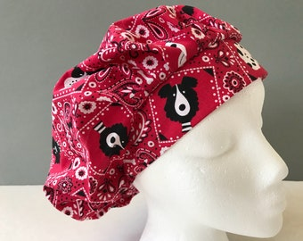 Bouffant Scrub Hat - Dog Bandana