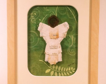 Upcycled Eco Angel of Green No8