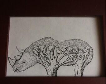 African Rhino Art