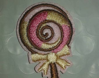 Badge embroidered lollipop candy color coat fusible 4 * 3cm