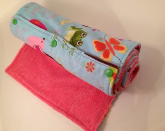 Eco Friendly UnPaper reusable towel with snaps - paperless - paper towel, cotton- flannel