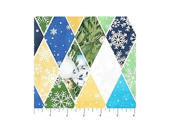 O Christmas Tree~Diamonds/White Cotton Fabric By Northcott