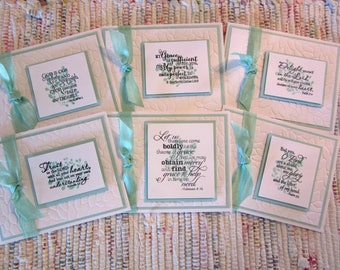 Bible Verse Note Cards  Set of 6