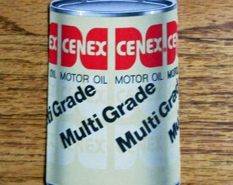 Vintage CENEX Oil Deck Playing Cards Motor Oil Advertising Shaped Redislip